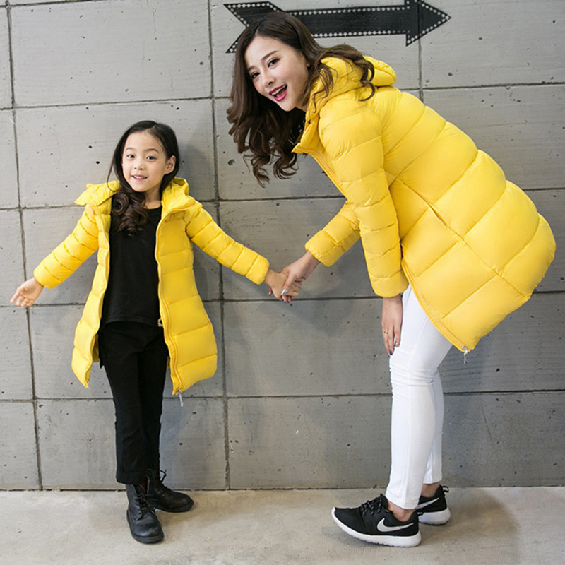 24755bf43 2017 Winter Mother Daughter Dresses Baby Clothes Women Girls Duck ...