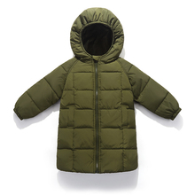 ФОТО girls clothing 2018 new brand baby girl down jacket feathers kids warm outerwear long coats children boys autumn parkas 2-10year