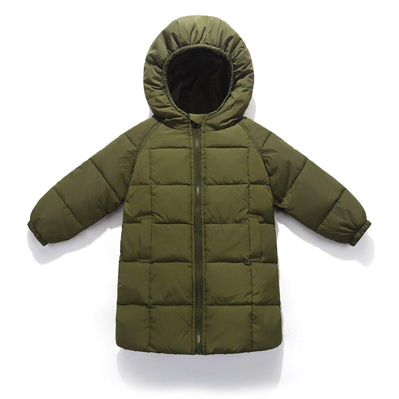Ropa para Niñas 2018 nueva marca bebé niña plumón chaqueta plumas niños abrigo largo niños otoño Parkas 2-10 años