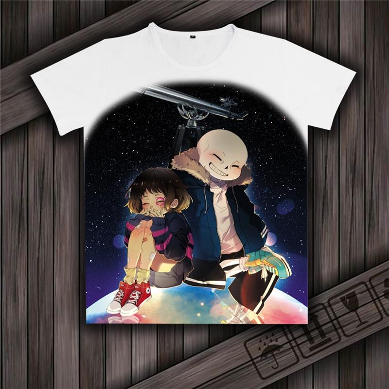 Undertale sans und papyrus T-shirt Game Undertale T-Shirt skulll brother kurzarm t-shirt spiel team spielen anime geschenk hemd