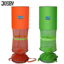 JOSBY Fishing Net Cage Utility Folding Fish Care Creel Tackle Portable Stake Small Mesh Net Shrimp Lobster Crawfish(China)