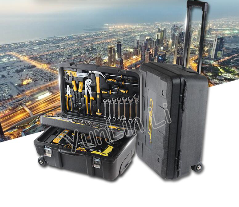 225PCS Tool Set Three-layer Rod-type Toolbox Set Multi-function Household Car Hardware Repair With Car Combination Tool