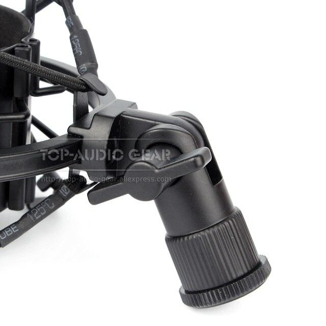 Kostenloser Versand Spinne Mikrofon Shock Mount Clip Halter Stoßfest Stehen Für Audio Technica ATR 2500 AT2020 AT2035 ZU 2020 2035