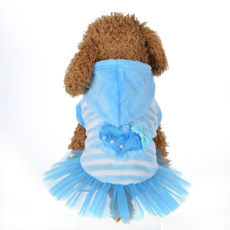 2017 Winter Dog Dress Sweety Pet Princess Tutu Dresses for Puppy Cats Teddy Warm Pink do ...