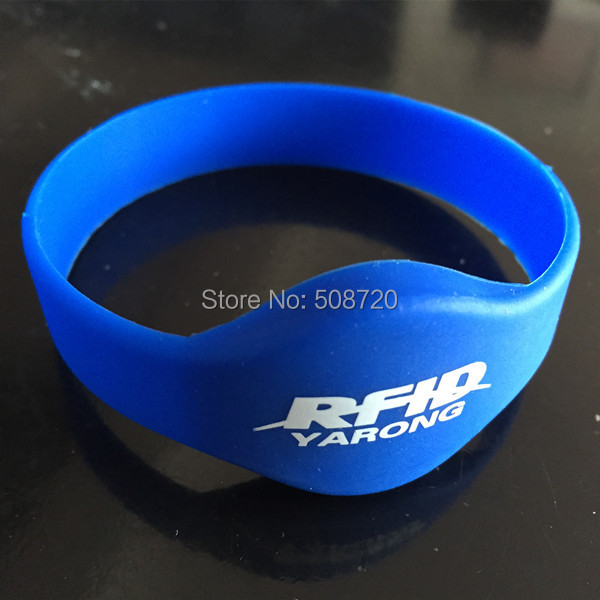 5 PCS Silicone EM4100 125KHZ Access Control With Our Logo Rfid Bracelet,rfid Wristband