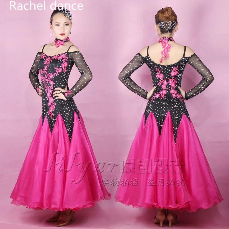 New Arrival Profession Latin Dance Dress Women Long Sleeves Polyester Salsa Samba Tango Competition Costume Latin Dress For Girl