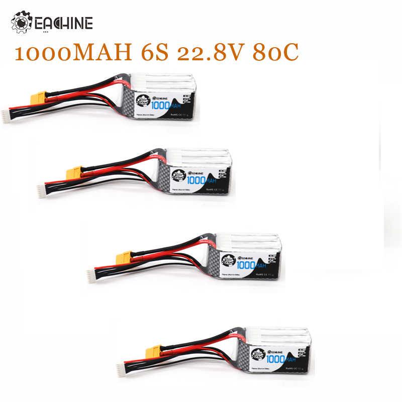 Eachine 1000 mAh 6 S 22,8 V 80C HV Lipo батарея 62x33x38mm XT60 вилка RC батарея для X220HV FPV гоночного дрона Запчасти Аксессуары