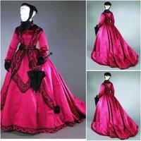 Historical Civil War Southern Belle Gown evening Dress/Victorian Lolita dresses/scarlett dress US6 26 SC 862