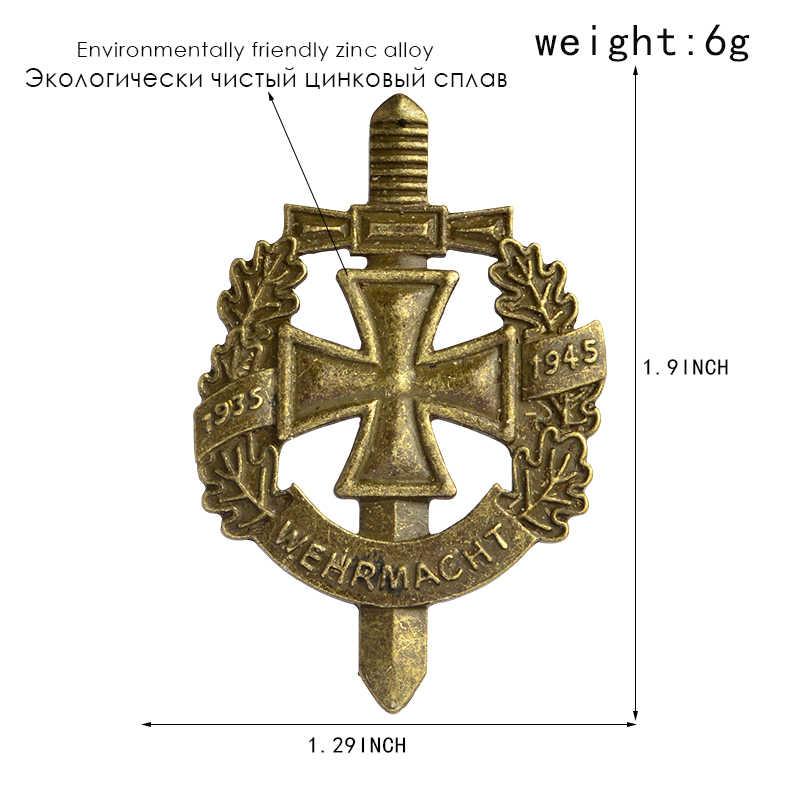 Perang Dunia II WW2 Jarum dan Bros Perunggu Perak Kuno Tentara Jerman Militer Wehrmacht Jarum Lencana Topi Tas Pakaian Kelapak Jarum Pria perhiasan