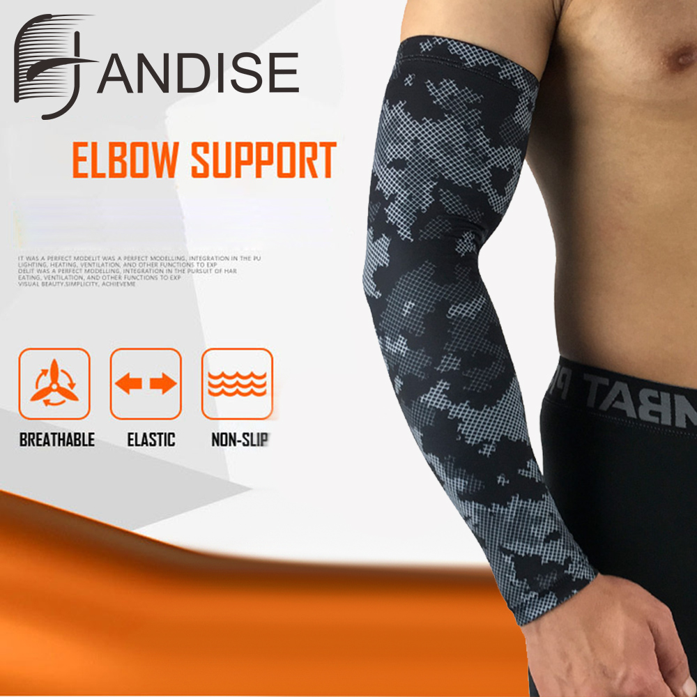 running - Men Sun Cycling Sleeves Arm Warmers Breathable Quick Dry UV Protection Camo Arm Sleeve Lycra Running Camping Golf Arm Covers