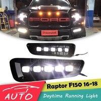 LED DRL For Ford F150 F 150 Raptor 2016 2017 2018 Daytime Running Light Fog Driving Lamp