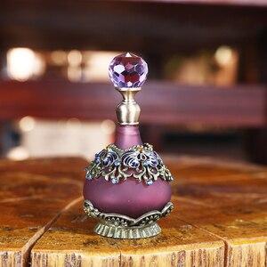 Image 5 - H & D 25Ml Paars Bloem Lege Glas Parfum Fles Vintage Hervulbare Container Decor Vrouwen Meisjes Gift Thuis Bruiloft decor