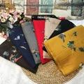 2016 nueva moda mujer bufandas de Cachemira bufanda del bordado de lujo espesar bufandas de Invierno cálido con la borla