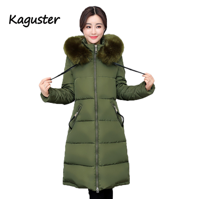 8327dbe82b8 Women s Winter Long Coat Parka With Faux Fur Hood Parka Puffer Jacket  Outwear Hooded Army Green Black Red Pink