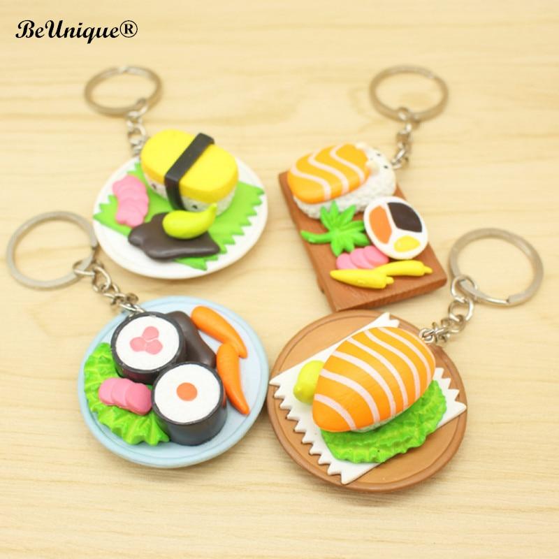 US $20 0 |2018 New Design Japanese sushi salmon keychain pendant simulation  food keyring Chaveiro llavero DIY Jewelry Accessory Wholesale-in Key