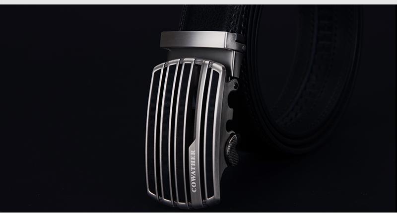 حزام COWATHER جلد طبيعي للرجال ذو جودة عالية 8