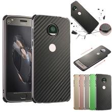 For Motorola Moto E5 Plus E5+ Case Aluminum Metal Frame+Carbon Fiber Hard Back Cover Case for Motorola Moto E5 Plus Phone Shell цена и фото