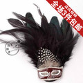 2016 new arrive fashion men /women vintage badge suit fashion feather mask quality brooch