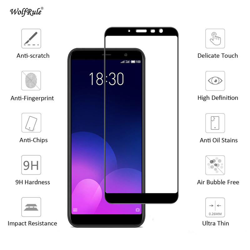 """Image 2 - Screen Protector Meizu M6T Glass 2.5D Tempered Glass sFor Meizu M6T Full Coverage Glass Meizu M6T M811Q Film 5.7"""" WolfRule-in Phone Screen Protectors from Cellphones & Telecommunications"""
