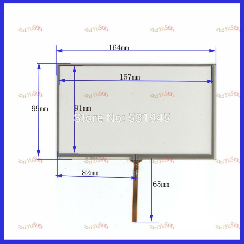 ZhiYuSun  Details About  7inch Resistive Touch Screen Digitizer Glass For GPS HSD070IDW1-E11 7