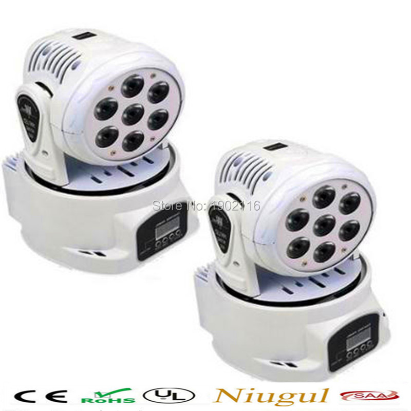 2pcs/lot 7x12W LED Wash Moving Head 4IN1 RGBW LED rotate DMX512 stage effect Light dj dicso lighting ktv club bar led beam lamp 2pcs lot led moving head light high quality 8 10w rgbw 4in1 spider beam dj party ktv club light stage effect lighting