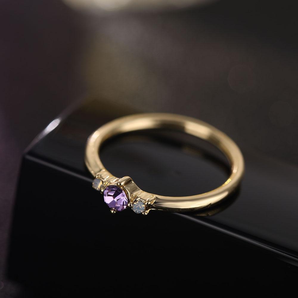 IPARAM 4 Pcs/set Crystal Zircon Gold Ring Set 19 Vintage Bohemian Women Engagement Party Ring Set Jewelry 9