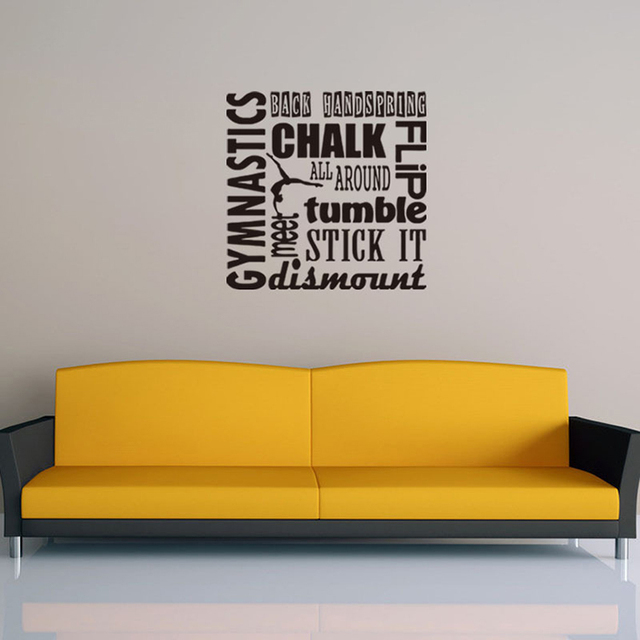 modern gymnastics Inspirational vinyl quotes wall decal home decor ...