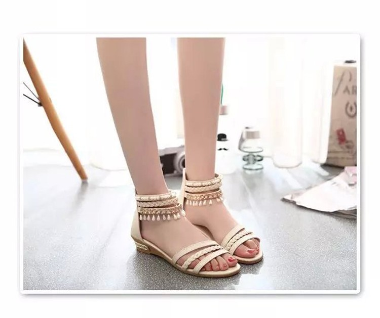 women sandals 2016 fashion Bohemia gladiator sandals women beading sandalias mujer wedges shoes for women 2016 new spring DT141 (6)
