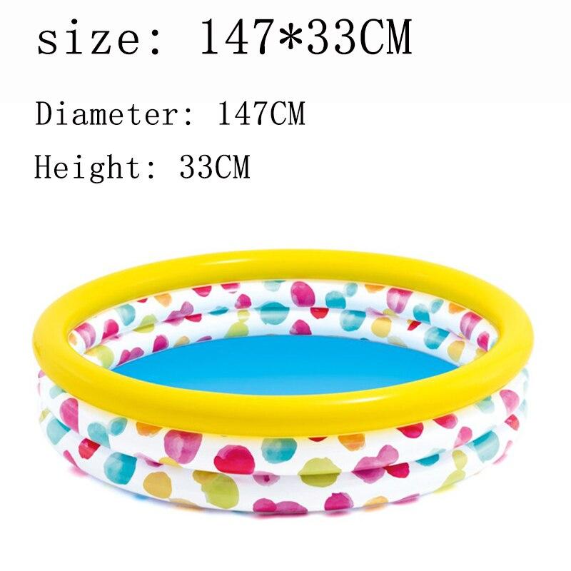 Piscine gonflable 147 cm natation enfant en bas âge sèche bébé piscine pour enfants en plein air intérieur enfant jardin piscines piscine jouet - 2