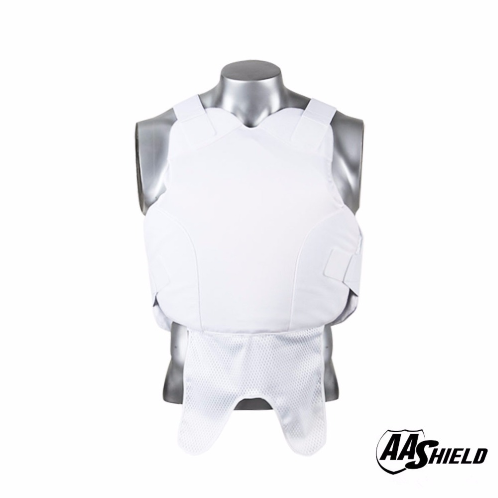 AA Shield Bullet Proof Vest Body Armor Suit Ballistic Comfortable Body Armour Teijin Aramid Core Carrier Color White Size M/L