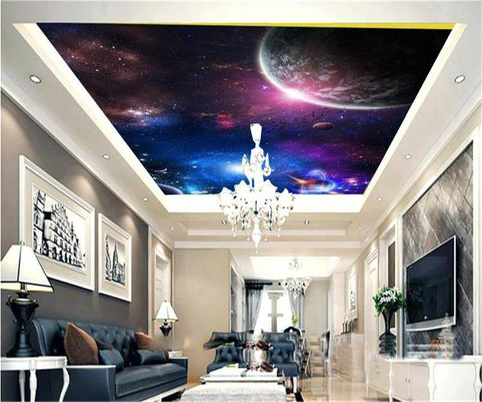Custom Size 3d Wallpaper Ceiling Room Mural Photo Space