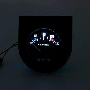 Image 3 - CNSPEED 52 ミリメートル車の水 Temperatur ゲージ車温度計ブラックフェイスパネル自動水温計メーター YC101261