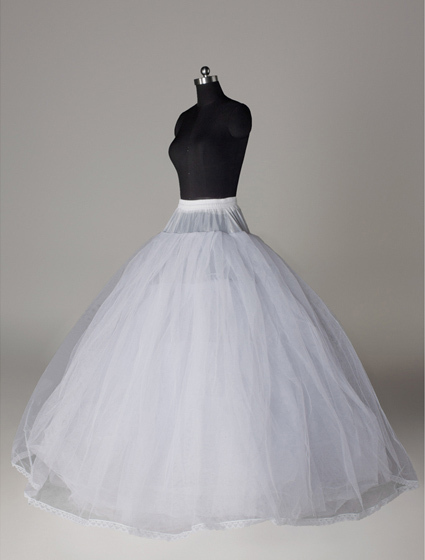High Quality And Good Price Tulle Petticoat Court Train Ball Gown Jupon For Wedding Dress