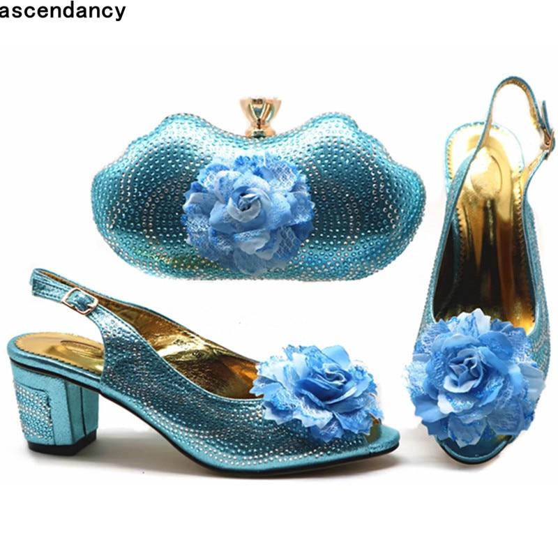 Del Con vino Mujeres Tinto Lujo Boda Bolso Bombas Y Nueva plata Parte Zapato La Bolsa Italiano Azul Cielo Diseñadores Para De Moda oro rosado Rhinestone Zapatos En Mujer Las pZRaqf