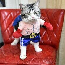 Забавный хэллоуин домашняя кошка собака боксер стоя костюм косплей одежды весна малого-среднего собака щенок ну вечеринку пальто одежда