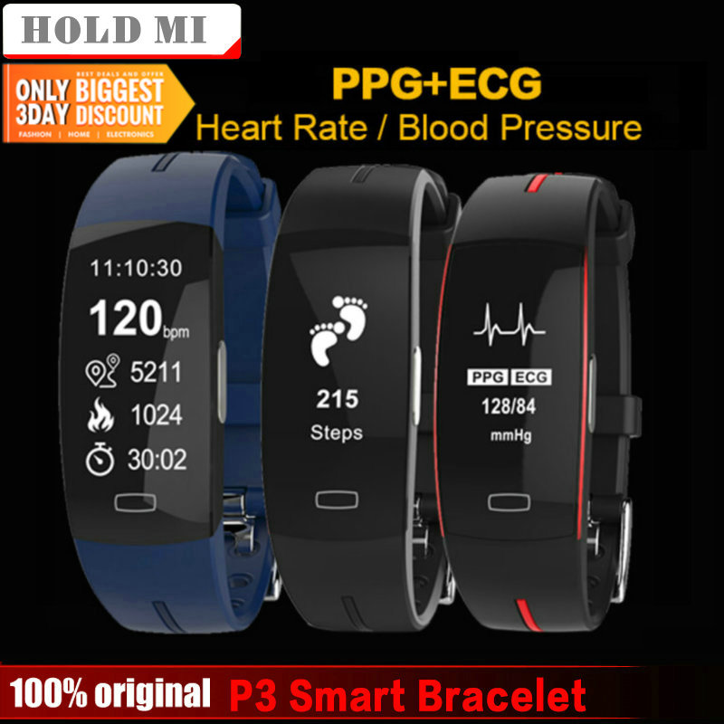 Watches Smart Bracelet Ecg+ppg Heart Rate Watch Fitness Tracker Wristband Blood Pressure Monitor Waterproof Smart Band For Xiaomi Ios Good Heat Preservation