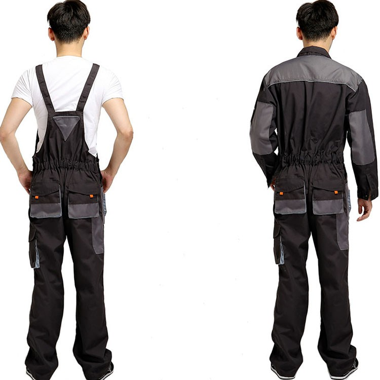 CCGK bib overalls men work coveralls protective repairman strap jumpsuits pants working uniforms plus size sleeveless coverall (7)