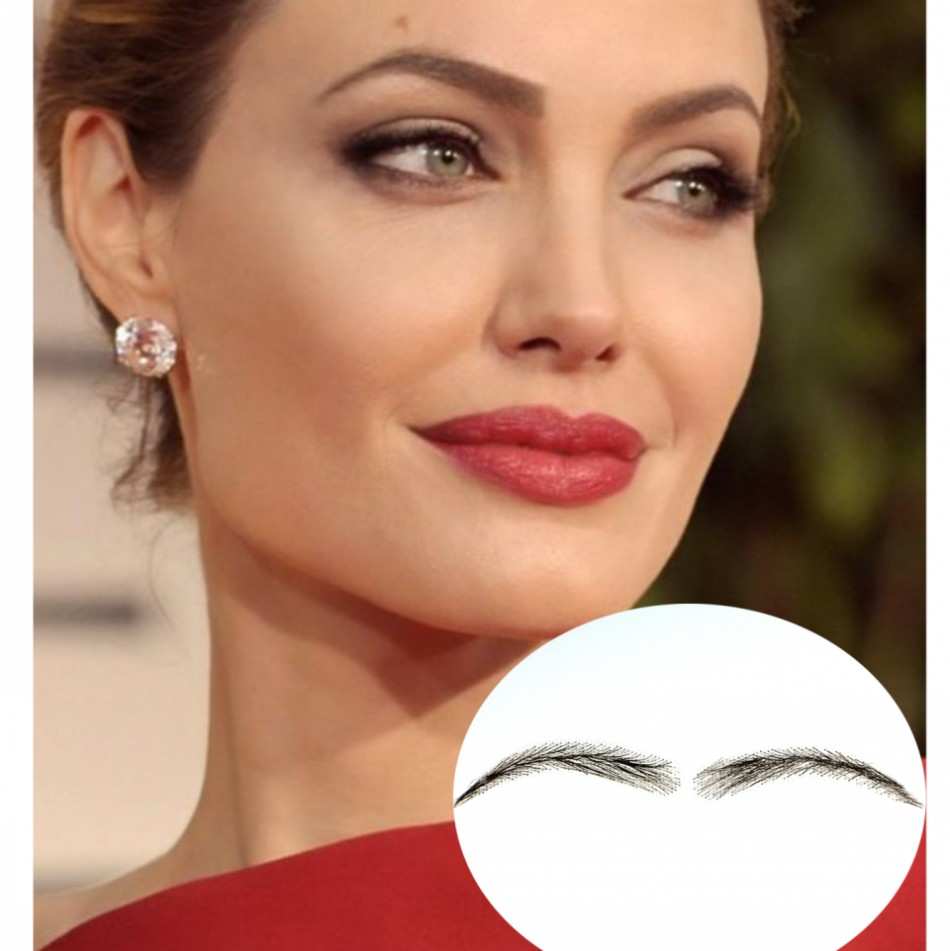 цена на 2017 Sobrancelha Special Offer Eyebrow Human Hair Thick Extensions Long-lasting Easy To Wear Freeshipping New Maquiagem