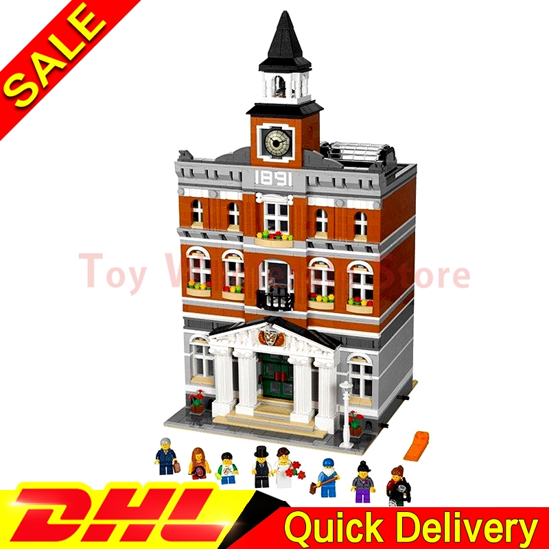 Lepin 15003 2859Pcs Street Town Hall Building Set City Street Blocks Model Self-Locking Bricks lepins Toy Clone 10224 полотенца tango полотенце jackie  70х140 см