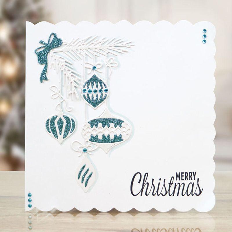 Christmas Ornaments Border Metal Cutting Dies Stencils For ...
