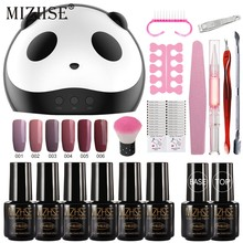 MIZHSE Nail Art Set Gel Nail Kits Met 36W UV LED Lamp Droger 6 stuks Gel Nagellak Set kit Nail Gereedschap Alle Voor Manicure Pedicure(China)