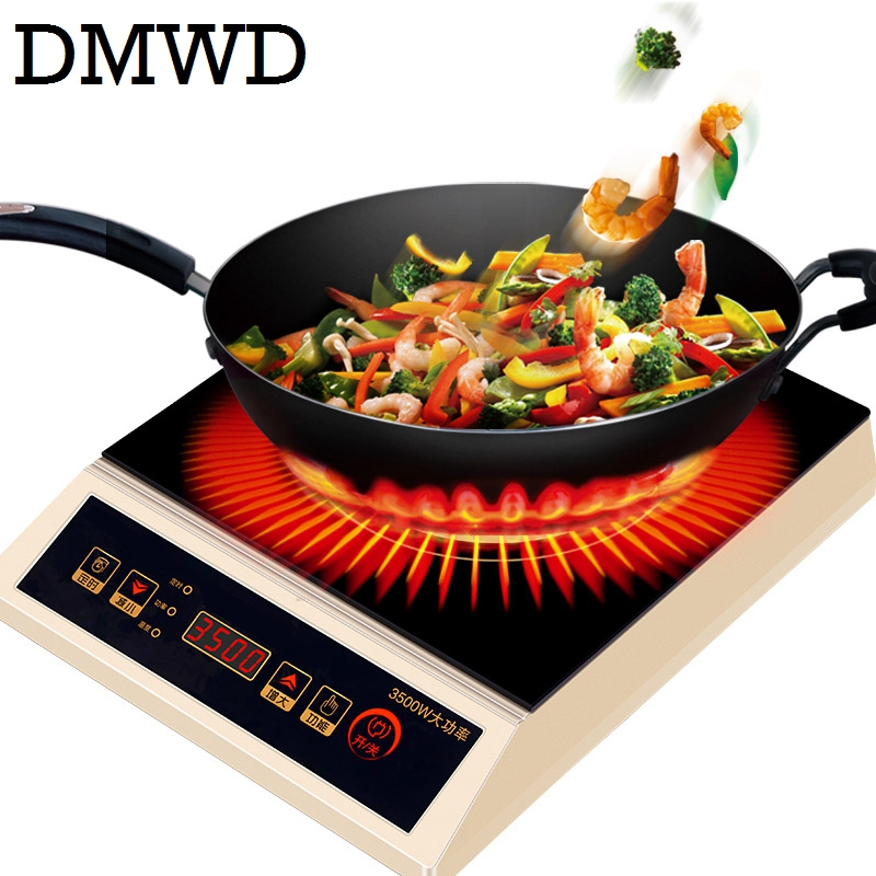 DMWD Commercial 3500W electromagnetic Induction cooker household waterproof mini hotpot cooktop hot pot cooking stove EU US plug dmwd commercial 3500w electromagnetic induction cooker household waterproof mini hotpot cooktop hot pot cooking stove eu us plug
