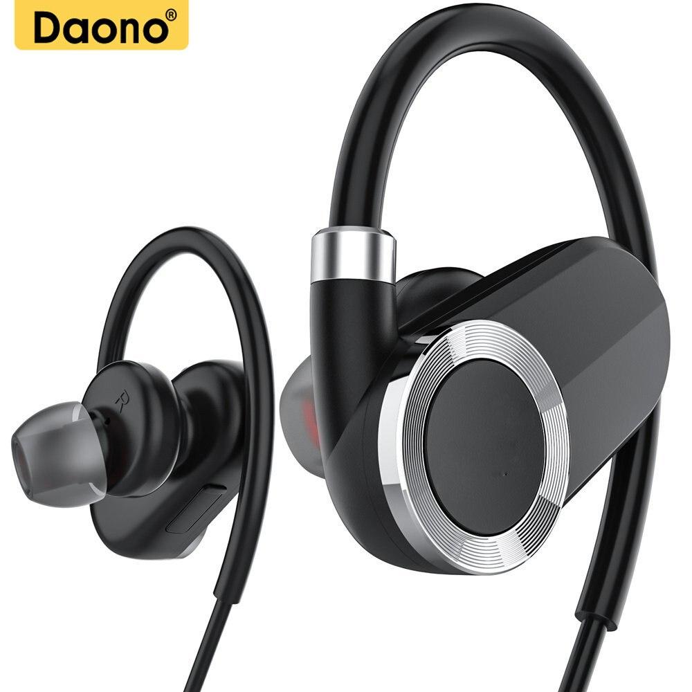 DAONO IPX4-rated sweatproof headphones bluetooth 4.1 wireless sports earphones aptx stereo headset with MIC for iphone samsung