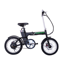 16INCH Mini electric bicycle 36v lithium battery 250w high speed motor fold e-bike range 35km Fast charging USB phone charging