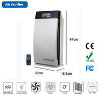 digital Touch screen Multi function air purifier,support ozone generaotr,ionizer(ozonizer air filter)uv air sterilizer PM2.5