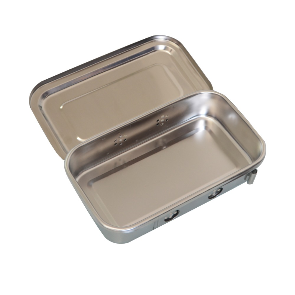1Pc 8Inch Stainless Steel Box Dental Nursing Instrument Surgical Accessories Container Anticorrosion High Temperature Resistance 2