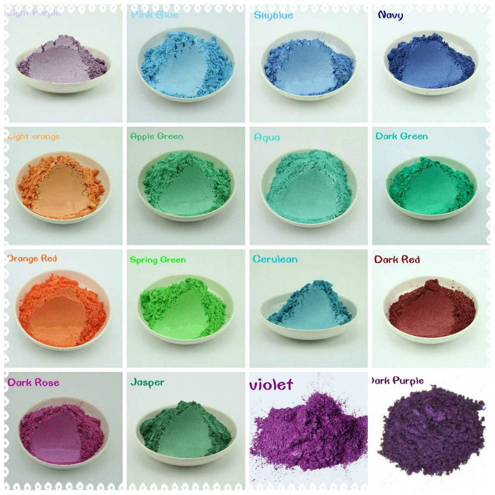 50g Healthy Natural Mineral Mica Powder Diy For Soap Dye Soap Colorant makeup eyeshadow Soap Powder Free Shipping 2016 free shipping natural handmade acrylic soap seal stamp mold chapter mini diy natural patterns organic glass 4x4cm 0099