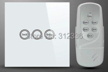 Livraison gratuite 86 MM 2 PCS/LOT = 1 PC commutateur + 1 PC télécommande en verre écran tactile contrôle acoustique retard interrupteur trempe verre