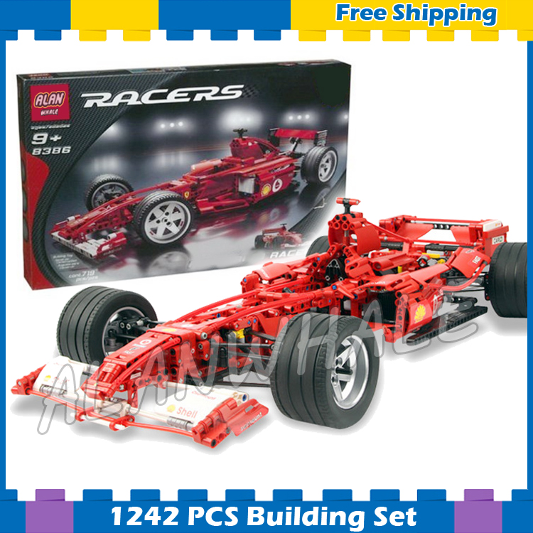 1242pcs 3335 Technic F1 Racer 1:8 Model Building Blocks minicar diecast cars Bricks automobile Boys Toys Compatible with Lego