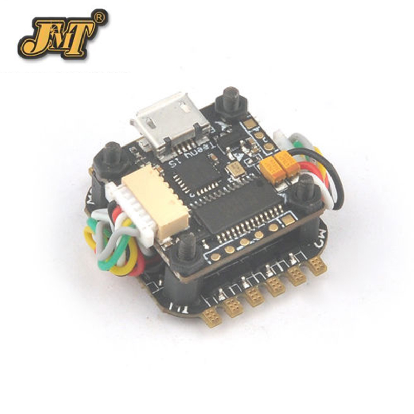 JMT Teeny1S F4 Flight Controller Model OSD + 1S 4 in1 BlheliS ESC for DIY Mini RC Racing Drone FPV F21744 f21744 jmt teeny1s f4 flight controller board osd 1s 4 in1 blhelis esc for diy mini rc racing drone fpv